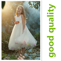 children's apparel luxury flower girl dress 3~7age dress up girls apparel