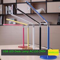 Hight Quality MMKLED  24 LED Desk Lamp Table Lighting Protect eyes Toughened Glass Base USB/AC 110V-220V Power