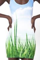 2014 Summer New Arrivals Women's Grass Print Slim Dress Black Milk Elastic Europe Style Tank Dresses Mini Dress Free Shipping