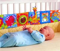 baby soft developmental plush toy dual-sided first book giraffe bed circle 1pc