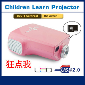 Pink Portable 1080P Mini Projector Multimedia LED Projector Home Education Cinema Video AV TV VGA HDMI USB TF Card Google T25(China (Mainland))