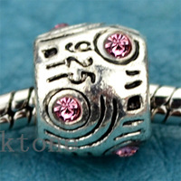 3 Pieces/lot , 2014 New Arrival 925 Silver Bead,European Crystal Beads Fit pandora Charms Bracelets , DIY Jewelry SPB032