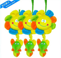 babyfans infant snow sunflowers pulled bell rang hang lathe music ring toy 1pc