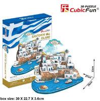 3D Puzzle paper Model DIY toy Aegean Santorini Island Valentine gift MC195H 1pc