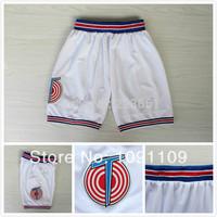 2014 usa retro Space Jam Michael Jordan 23 shorts pants Cheap Tune Squad Short Basketball White LOONEY TOONES Basketball Shorts