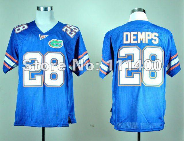 Wholesale Cheap,NCAA football jersey Florida Gators #28 Jeff Demps Blue jersey(China (Mainland))