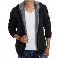 2014 Winte rfashion Men's Hoodies knitting Sweatshirts Sports Sweaters Jacket Casual Coats cardigan Y0288