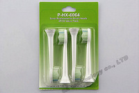 HOT SALE For Philips ProResuts Sonicare toothbrush heads 4pcs/lot HX6064 P-HX-6064 sonic electric toothbrush head Soft Bristles