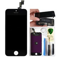 LCD Replacement Parts For iphone 5S LCD Touch Screen Digitizer Assembly with frame For 5S DHL Free shipping