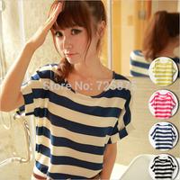 Cheap Clothes China Women 4Colors Plus Size Woman Clothing Chiffon Shirt Fashion Batwing Short Sleeve Loose Blouse Tops