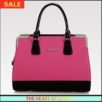 Fashion Handbag Pu Leather Women Shoulder Bag Letter Patchwork OL Messenger Bag Rivet Bag Free Shipping B106