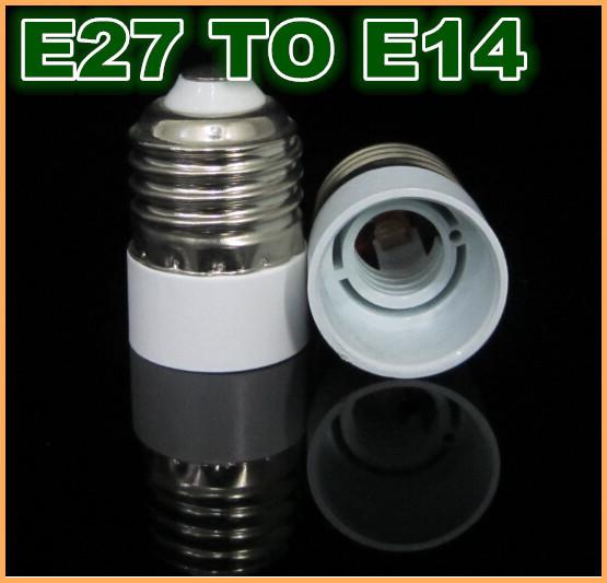 10pcs/lot E27 to E14 Base LED Light Lamp Bulb Converter Adapter New(China (Mainland))