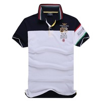 Free Shipping 2014 Slim Fit Shirts For Men Aeronautica Militare Air Force One Brand T-Shirt Polo Short Sleeve Shirt 2 Colors