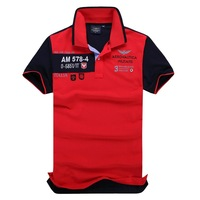 Free Shipping 2014 Slim Fit Shirts For Men Aeronautica Militare Air Force One Brand T-Shirt Polo Short Sleeve Shirt 3 Colors