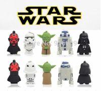 Star Wars R2D2 Yoda Darth Vader Stormtrooper Darth Maul Enough Capacity 4GB 8GB 16GB 32GB USB Flash Drive 2.0 Memory Stick Card