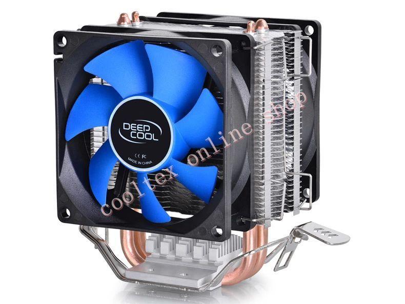 CPU cooler,2pcs 8025 fan, 2 heatpipe, tower side-blown, Intel LGA 775/1155/1156, AMD 754/940/AM2+/AM3/FM1/FM2,CPU radiator,(China (Mainland))