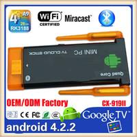 RK 3188 Quad-Core 1.8GHZ Mali400 2gb/8gb Bluetooth dual Antenna Wifi EKD03 android wifi dongle tv box hdmi