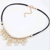 2014 Fashion Elegant Statemnet Necklace Clavicle Rope Chian Necklace Pendant Drop Women Jewelry Best Gift