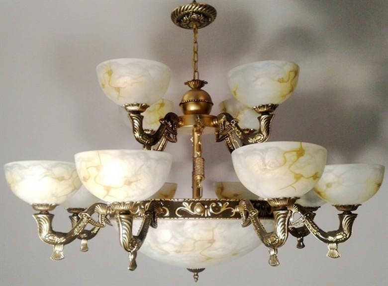 Imitation marble glass chandelier vintage European chandeliers Thai -storey villa large living room chandelier lamp 99363(China (Mainland))