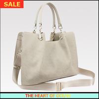 Fashion Handbag Women Genuine Leather OL Handbag Spripe Rivet Ruched Lady Messenger Bag Solid Shoulder Bag B109
