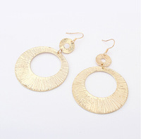 European and American Style Popular Women Jewelry Big Alloy Circle Drop Earrings ER500
