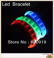 200pcs New Arrival  Fashion led bracelets flashing Multicolor bracelet blinking bracelet for party ,festival Free shipping