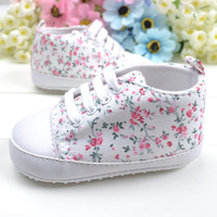 Very cute Small flowers baby first walkers baby soft sole shoes toddler shoes for 0-18M baby girls