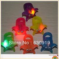 100pcs Free shipping led  flashing starfish cartoon ring  toys for party