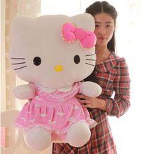 75cm Hello Kitty plush toy Christmas gift big size ,HELLO KITTY plush toy doll birthday gift,Kids Toys(China (Mainland))