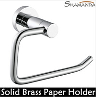 Free Shipping Bathroom Accessories Solid Brass Copper Chrome Finished Toilet Paper Holder,Paper Roll Rack,Bathroom Product