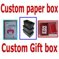 custom printed gift paper box/folding paper box/gift box