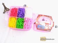 rainbow bracelet Diy Bracelet Small Plastic Box Set(5400 Bands) Jingwholesale.com