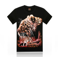 Man 3 d printing individual animals The leopard T-shirt design new fashion hip-hop leisure Pure cotton summer with short sleeves