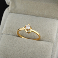 Chic 18K Gold White Gold Plated Ring Artificial Gemstone Jewelry   638481-638484
