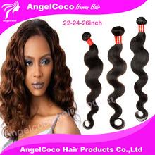 Brazilian virgin hair extensions body wave 3pcs/lot virgin unprocessed human hair weaves natural color 1b# HAIR(China (Mainland))