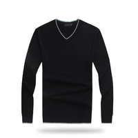 2014 Cotton Acrylic Promotion Pullovers Man Sweater V-neck for Men for Gray& Color M-xxl High Quality free Shipping Wholesale