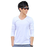 2014 Real Top Pullovers Full Pullover Men Men's Sweaters Casual Slim V-neck Cotton Lycra Sweater free Shipping Wholesale