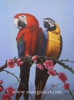 Pure hand-painted oil paintings home decoration realistic bird 003