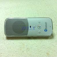 White Car Handsfree Bluetooth Kit Speaker Sun Visor Clip for Mobile Cell I Phone Samsung Galaxy Nokia etc.
