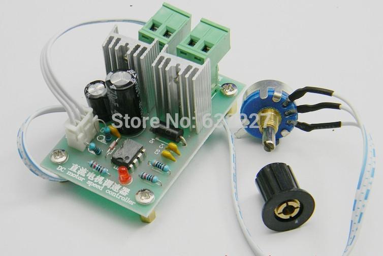 Freeshipping 12V 24V 36V pulse-width dc motor speed controller(China (Mainland))