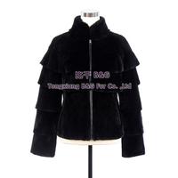 BG30351 2014 Short Design Female Rex Rabbit Fur Coat  Real Rex Rabbit Fur Coats Nature Fur Women Clothing