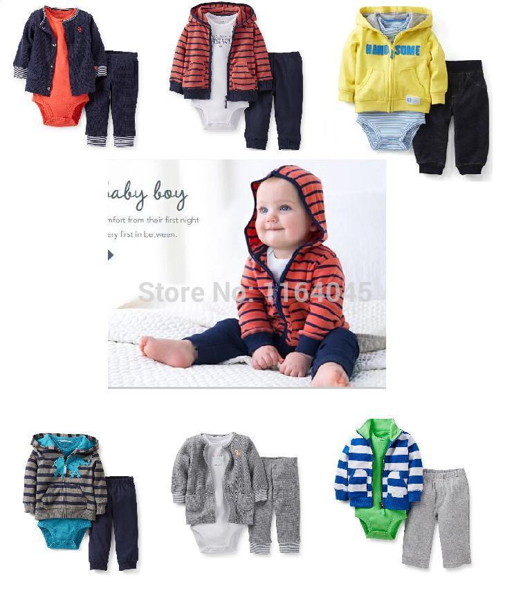 2014 Sekunden töten conjuntos kleidung setzt mode, Carter 3 stück setzt, baby jungen süß anzug für Frühjahr und Herbst, versandkostenfrei