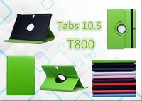 """fast Shipping SHENZHEN factory Tab S GALAXY S T800 10.5""""  Rotate Leather Case Protective shell for T800 with free gift"""