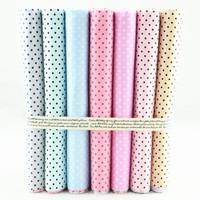 """7 Pieces Multi-color """"Mini Dot"""" Dense Cotton Fabric Fat Quarters Children Bedding Cloth Quilting Patchwork home textile W3B5-10"""