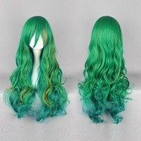 Free Shipping 80cm multi-color Long Weak worm pedal Makishima Yusuke  Anime Cosplay Costume Wig