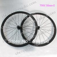 Wholesale Cheap 700C 38mm Tubular Full Carbon Fiber Bicycle WheelSet 3K Glossy Surface with Basalt Brake Layer