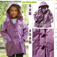 Free Shipping Retail 1pc  France  brand Kids Rain Coat children Raincoat Rainwear/Rainsuit,Kids Waterproof Raincoat