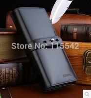 Male wallet long design genuine leather wallet casual vertical cowhide wallet small clutch men