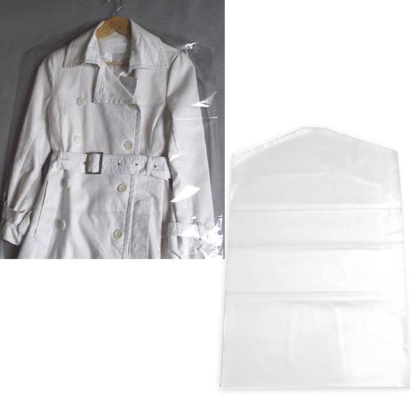 10pcs Clothes Suit Garment Dustproof Cover Transparent Plastic Storage Bag BS88(China (Mainland))