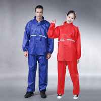 2014 Wholesales Motrocycle Fashion Raincoat Men and Women Rain Suit Rainwear Various Color